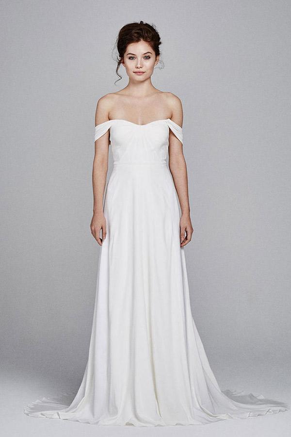 Vestido de noiva tendências do NY Bridal Week Outono 2017 ombro a ombro