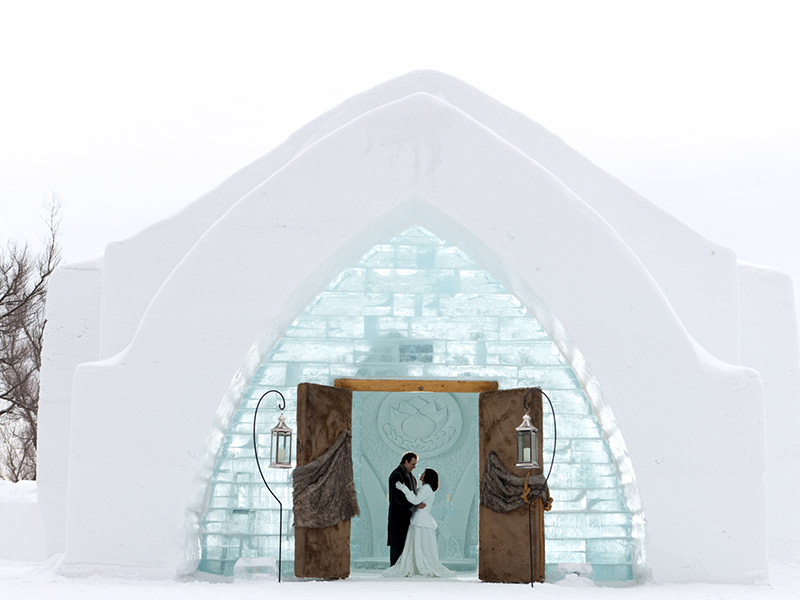 Destination wedding Canadá Hotel de Glace