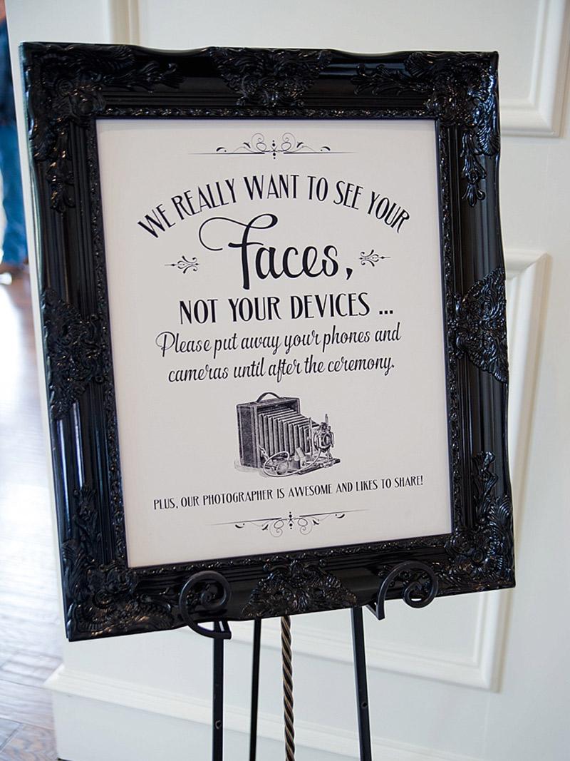 Dicas de etiqueta Convidados e as redes sociais cartaz