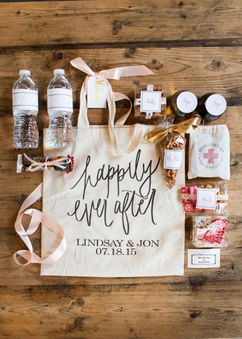 Lembrancinha de casamento tendências para 2017 bolsa de boas vindas