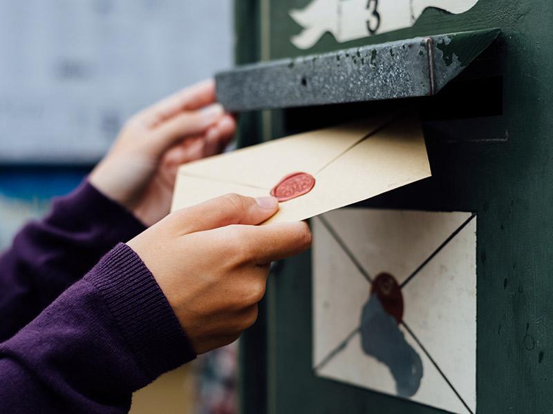 Papelaria de casamento Cartão de agradecimento envio