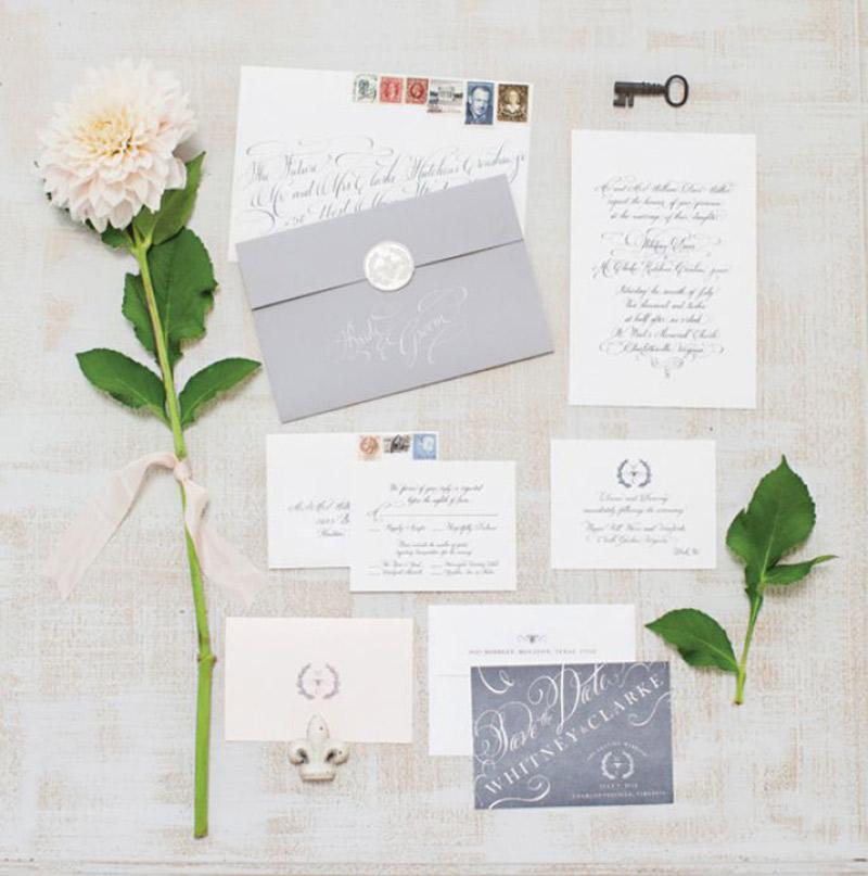 Papelaria de casamento Cartão de agradecimento identidade