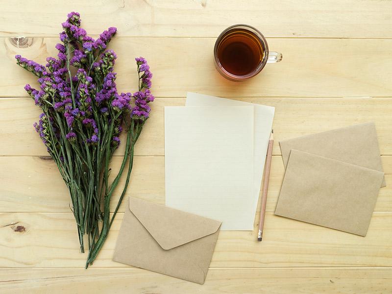 Papelaria de casamento Cartão de agradecimento o que escrever