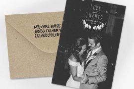 Papelaria de casamento Cartão de agradecimento