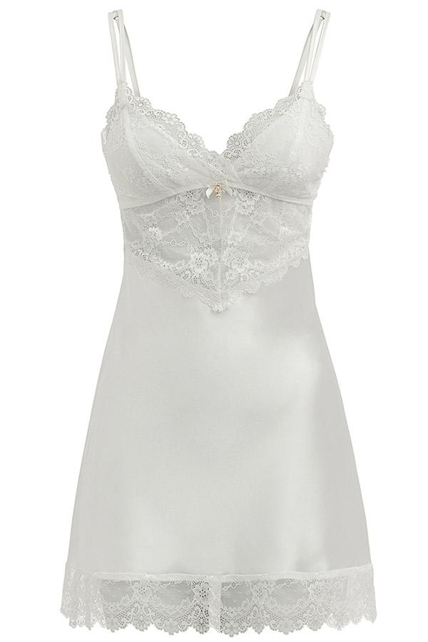 Lingeries para o dia do casamento camisola Any Any