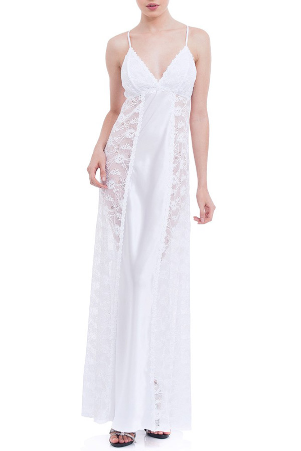 Lingeries para o dia do casamento camisola