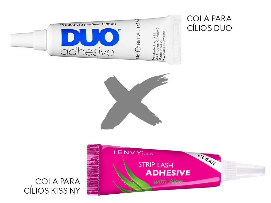 Maquiagem Nacional x importada cola para cílios
