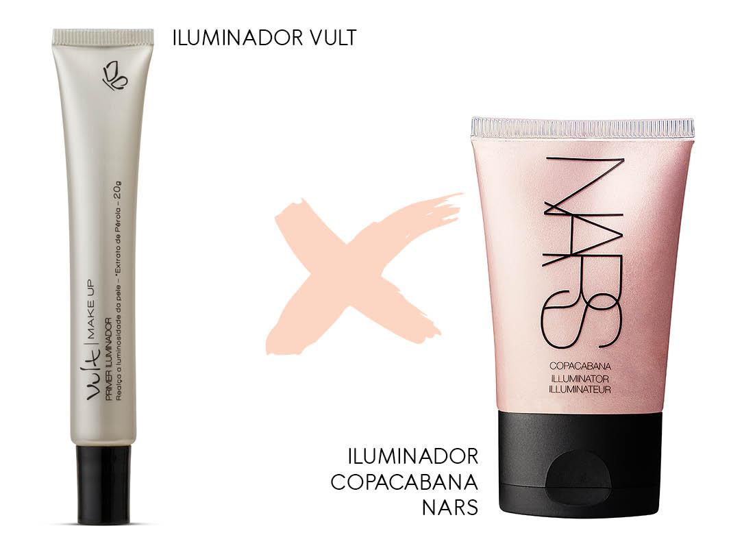 Maquiagem Nacional x importada iluminador