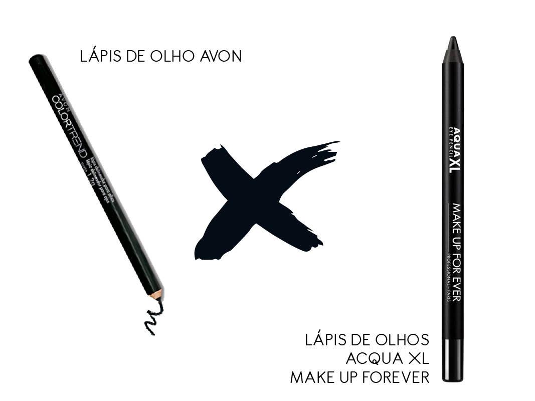Maquiagem Nacional x importada lápis de olho