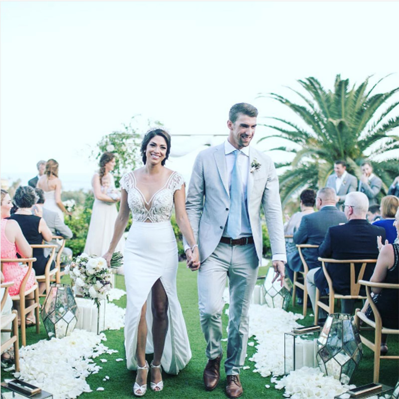 Retrospectiva 2016 Melhores casamentos de celebridades Michael Phelps