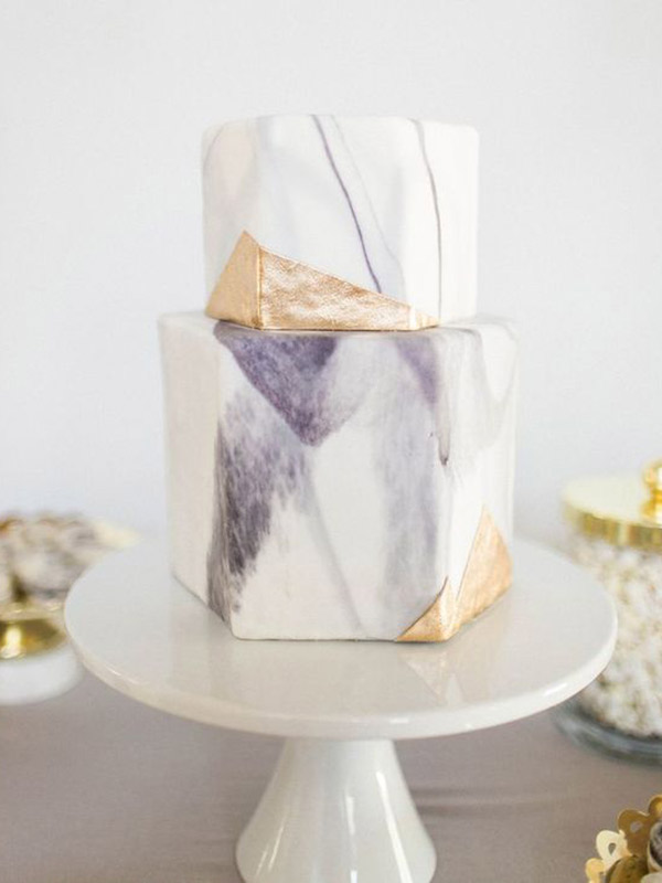 Bolos Tendências 2017 mármore