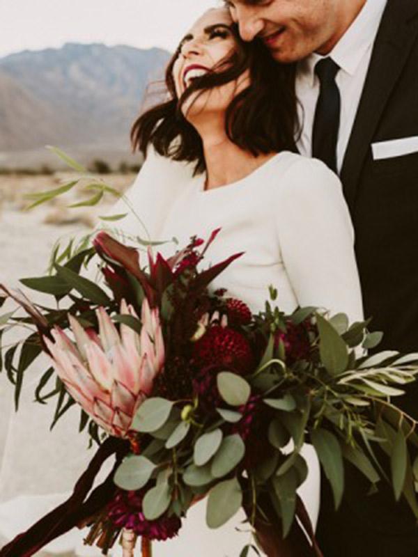 Buquê de casamento braçada