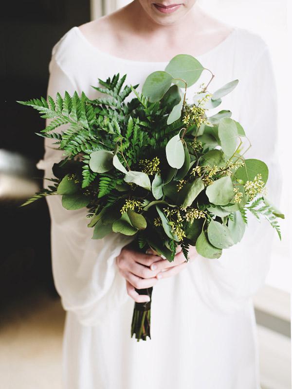 Pantone 2017 Como usar greenery no seu casamento buquê