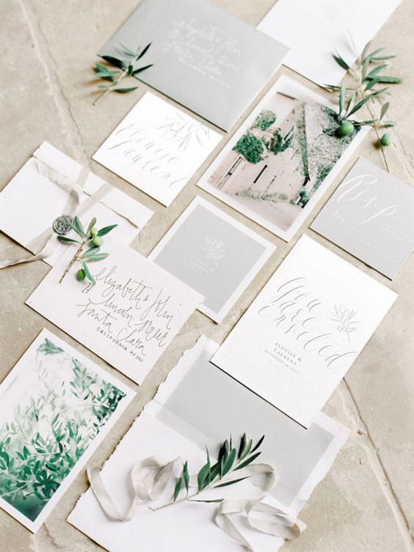 Pantone 2017 Como usar greenery no seu casamento papelaria