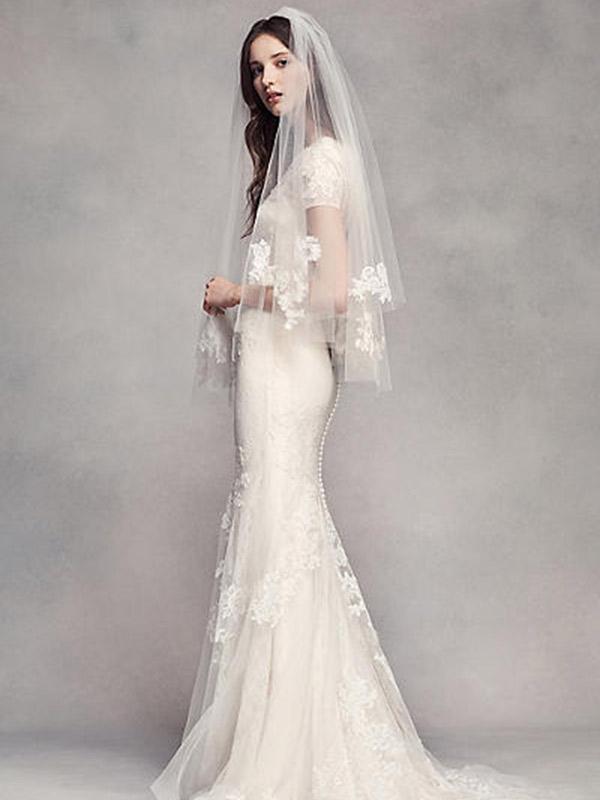 Véu de noiva marcas internacionais David bridal