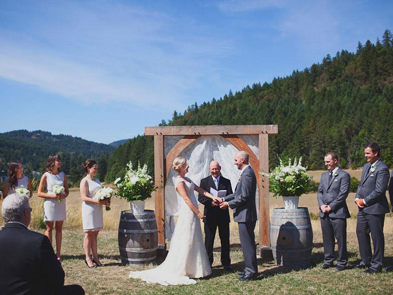 Casamento real no Canadá Joe e Chelsey fazenda
