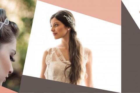 Coleção de acessórios de cabelo para noivas Lumière da D. Cantidio