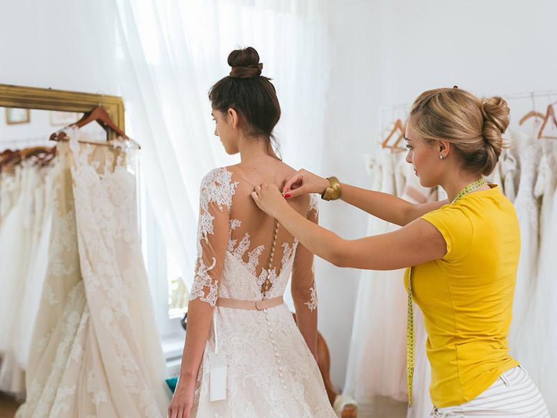 Comprar o vestido de noiva online medidas