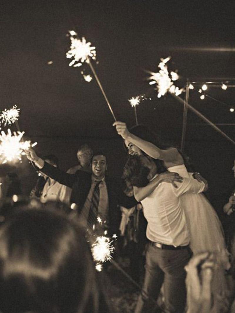 Fogos de artifício no casamento horário