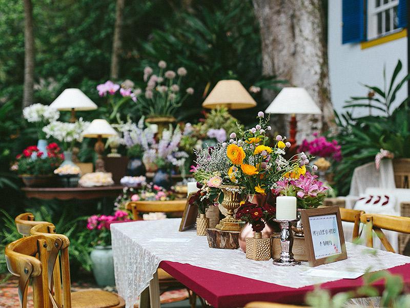 Mini wedding As pinadas decorações nos EUA