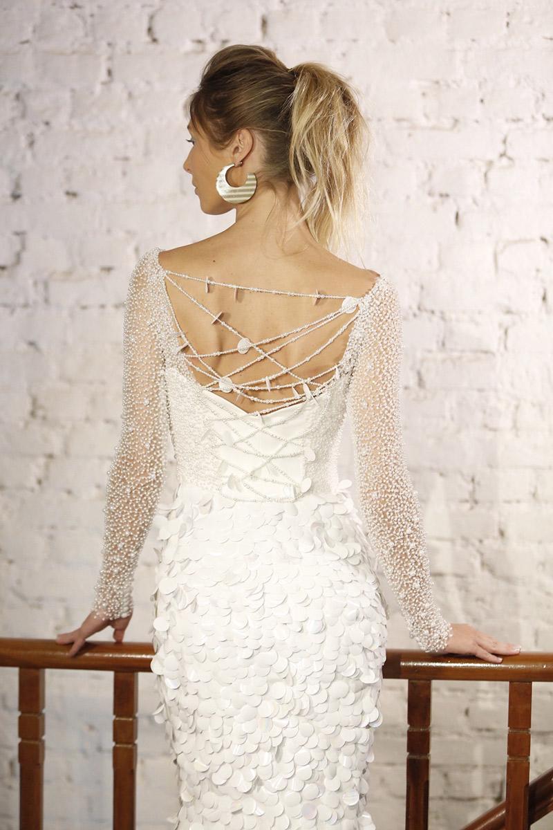 Noiva vestido Inauguração Carol Hungria vestido texturas
