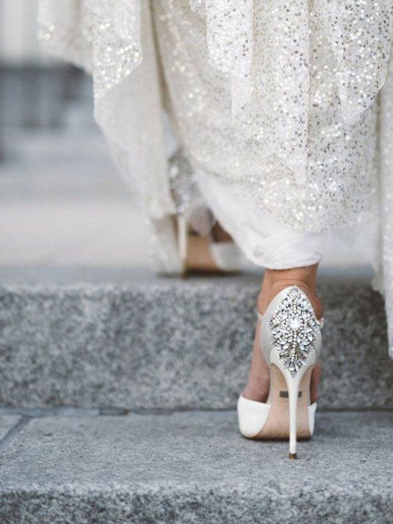 Sapato de noiva O guia tamanho do salto