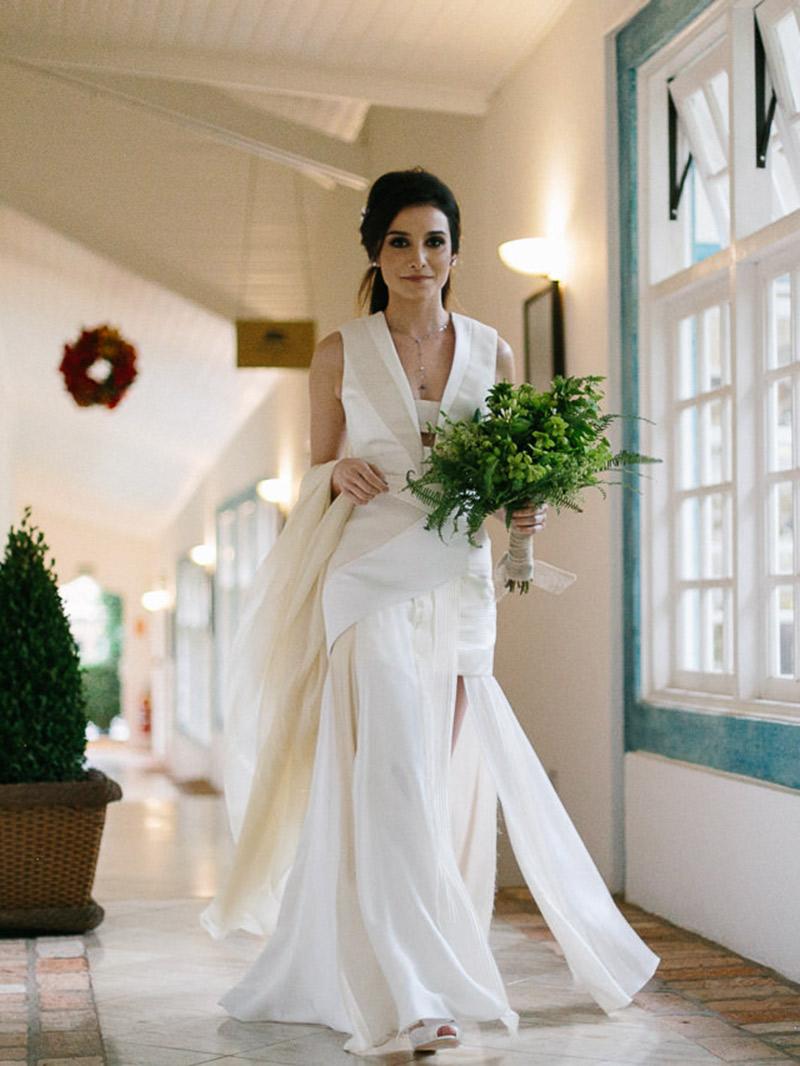 Casamento real Carol Bassi e Pedro Venzon vestido frente