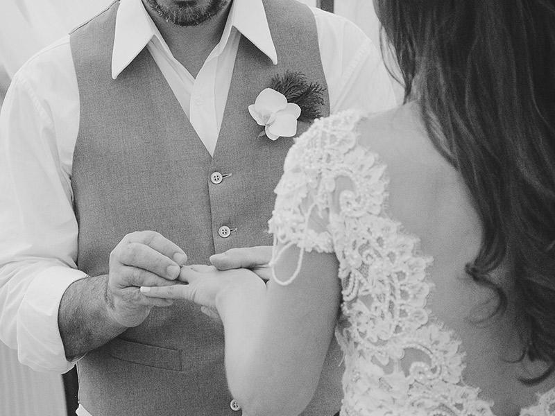Casamento real Juliana e André anel