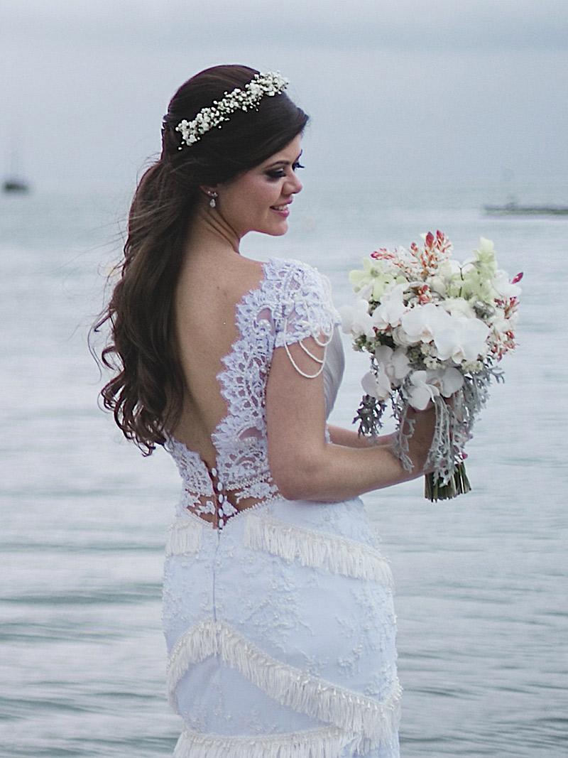 Casamento real Juliana vestido costas