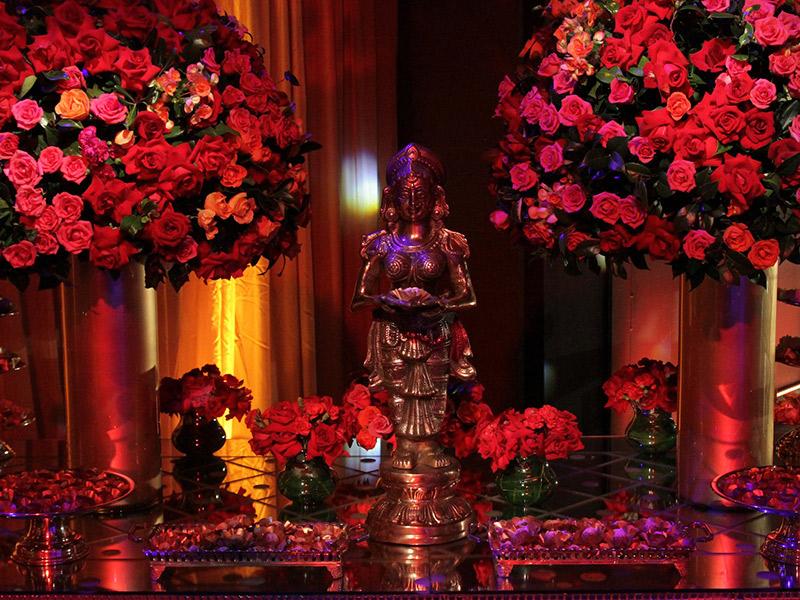 Casamento indiano no programa Fábrica de Casamentos decoração