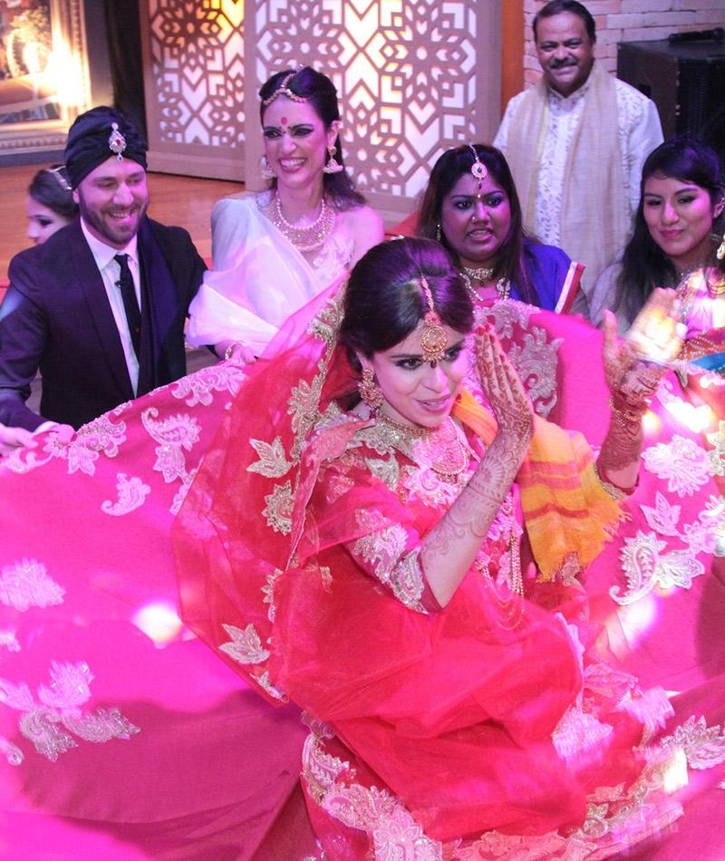 Fábrica de Casamentos celebração indiana vestido da noiva