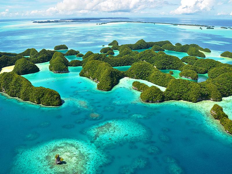 Ilhas inexploradas para lua de mel Paulau