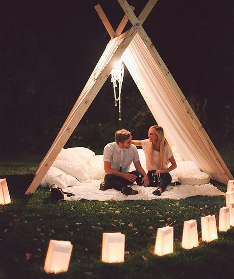 Lugares românticos pedido de casamento pique nique