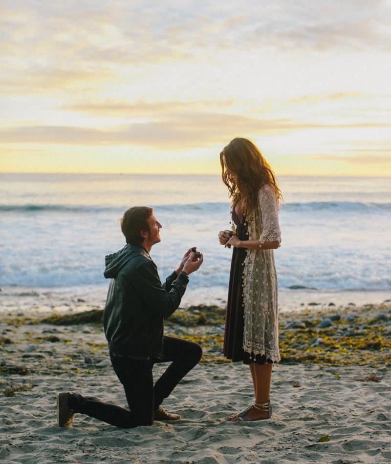 Lugares românticos para fazer o pedido de casamento praia