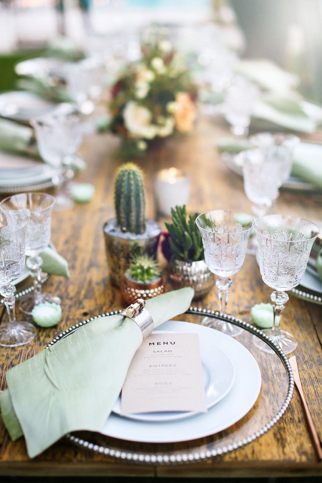 Plantas e folhagens decoração de casamento cacto e suculenta