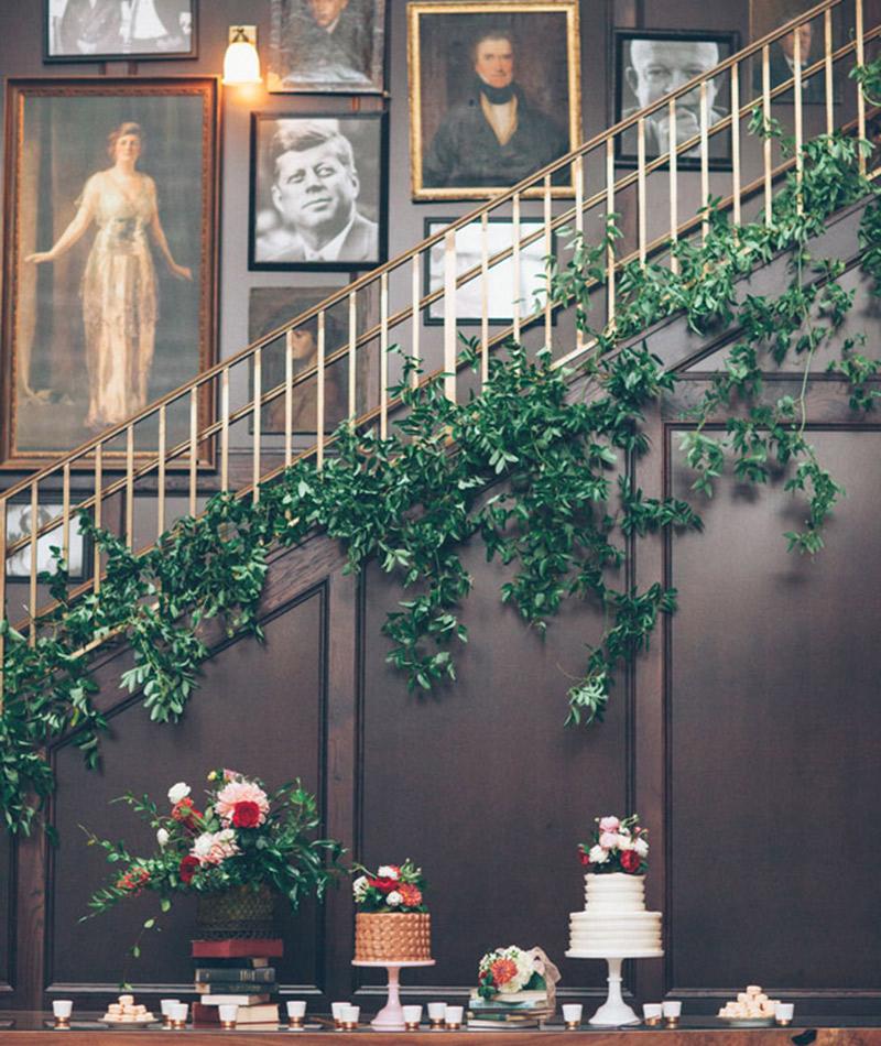 Plantas e folhagens decoração de casamento hera