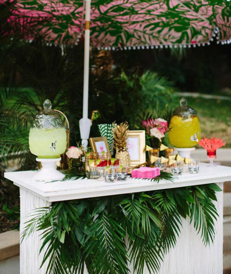 Plantas e folhagens decoração de casamento palmeira