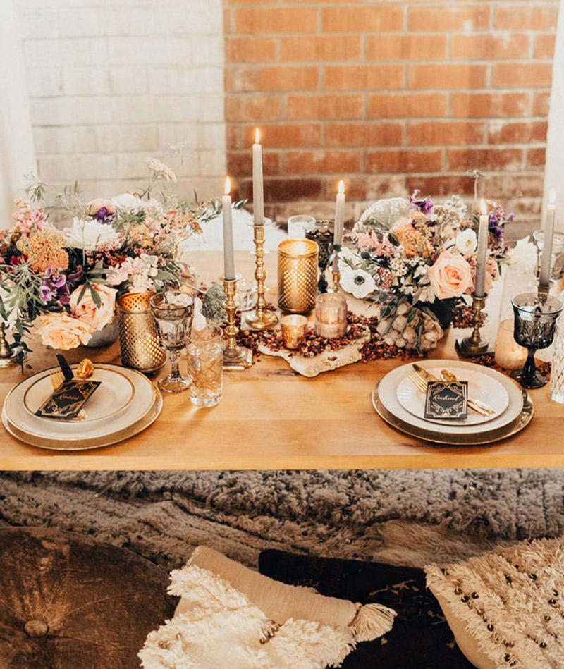 Taças e copos para festa de casamento