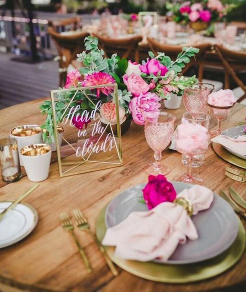 Tendências pinterest para casamento 2017 decoração