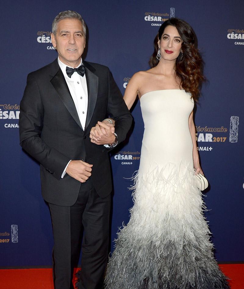 Dicas para madrinhas e convidadas grávidas Amal Clooney