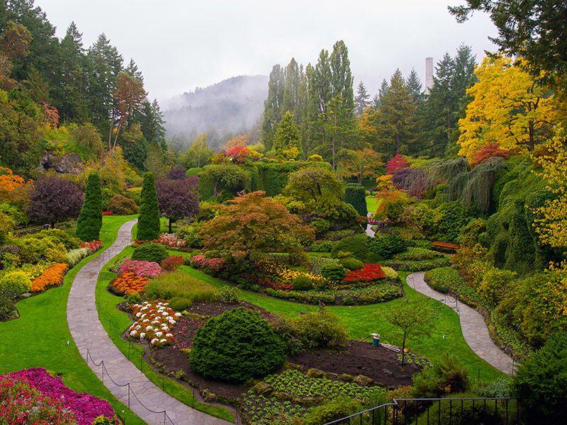 Jardins espetaculares para um casamento ao ar livre Canadá