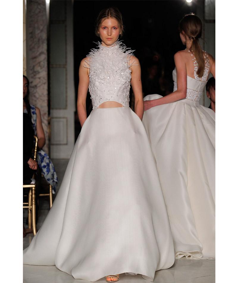 Tendências do Barcelona Bridal Week Primavera 2018 frestas