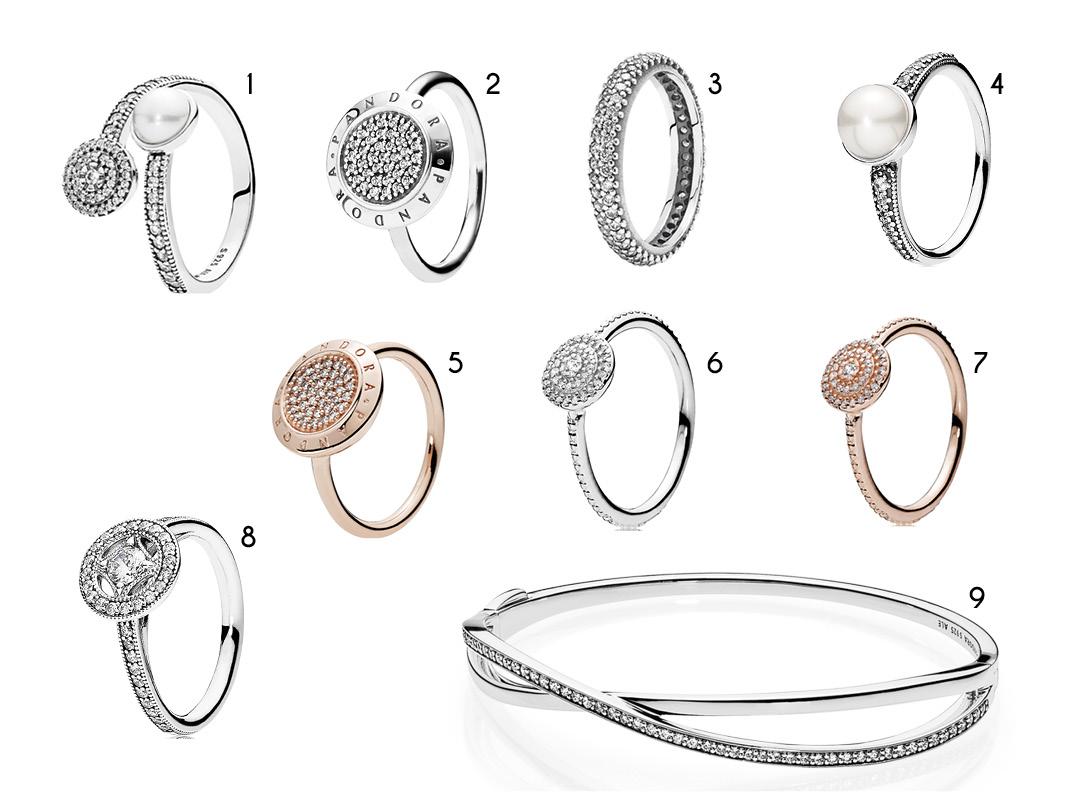 Pandora lança linha de joias Bridesmaid aneis e pulseiras