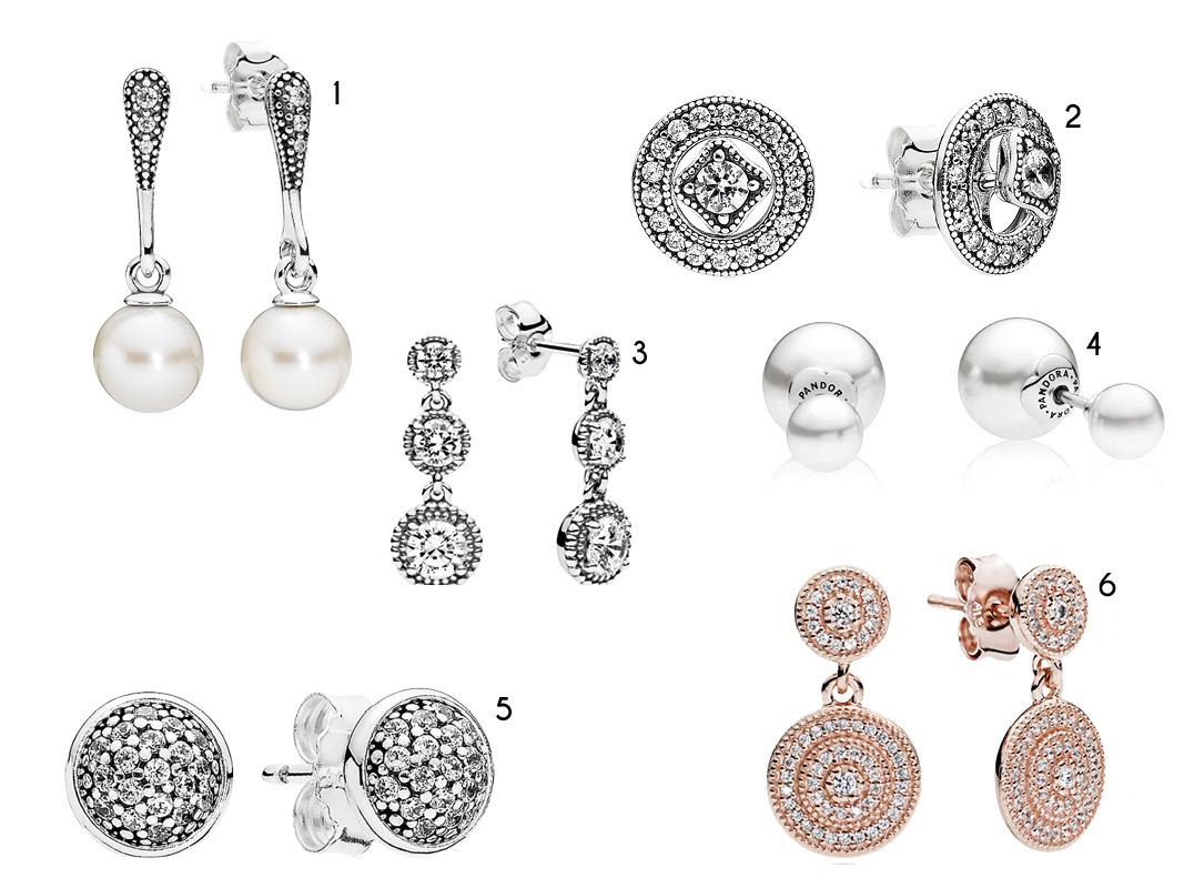 Pandora lança linha de joias Bridesmaid brincos