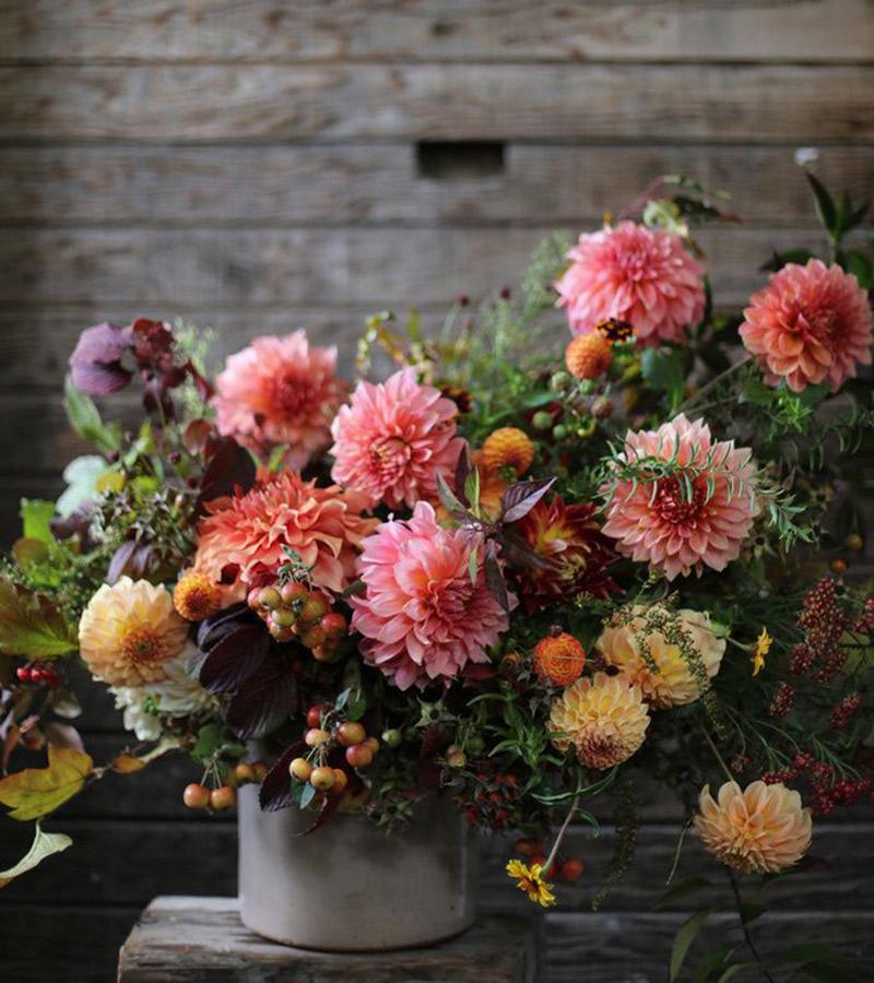 As flores para casamento de 2017 Dálias