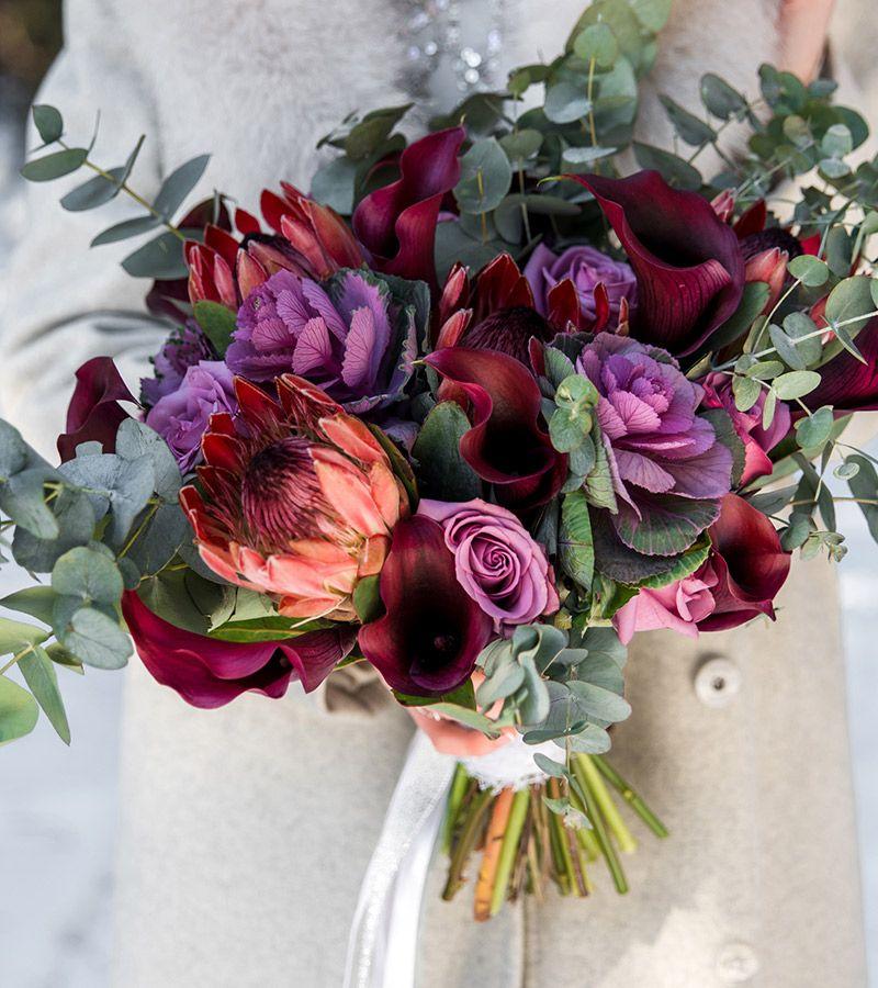 As flores para casamento de 2017 marsala