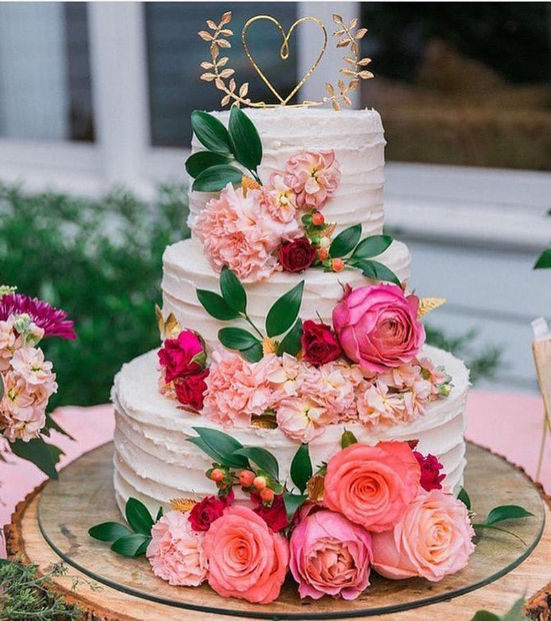 As flores para casamento de 2017 rosa
