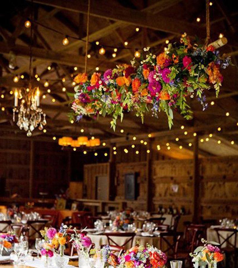 Flores para casamento de 2017 teto