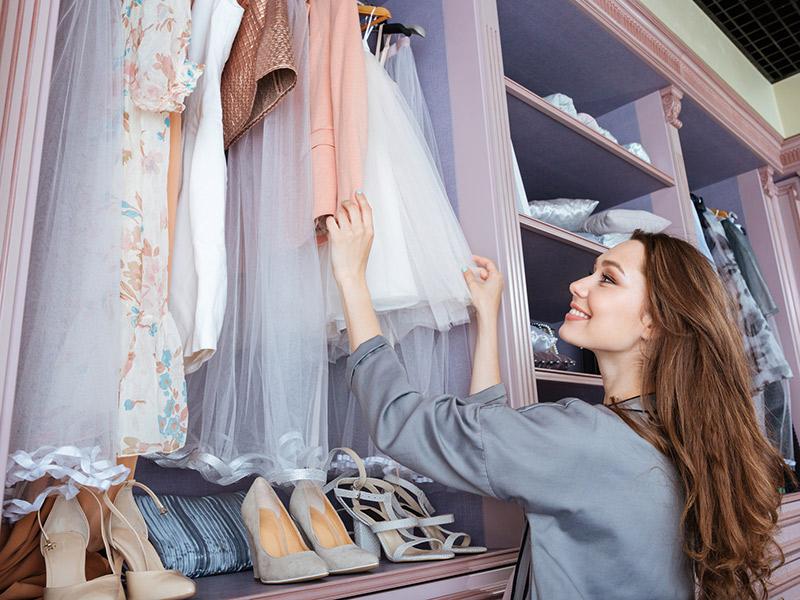 Como dividir o armário com o noivo roupas