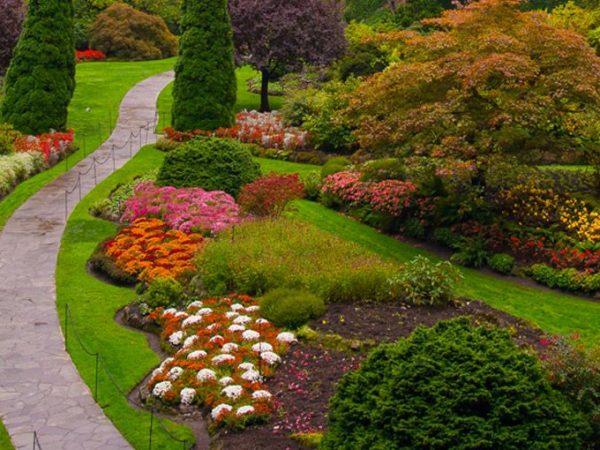 Jardins espetaculares para um casamento ao ar livre